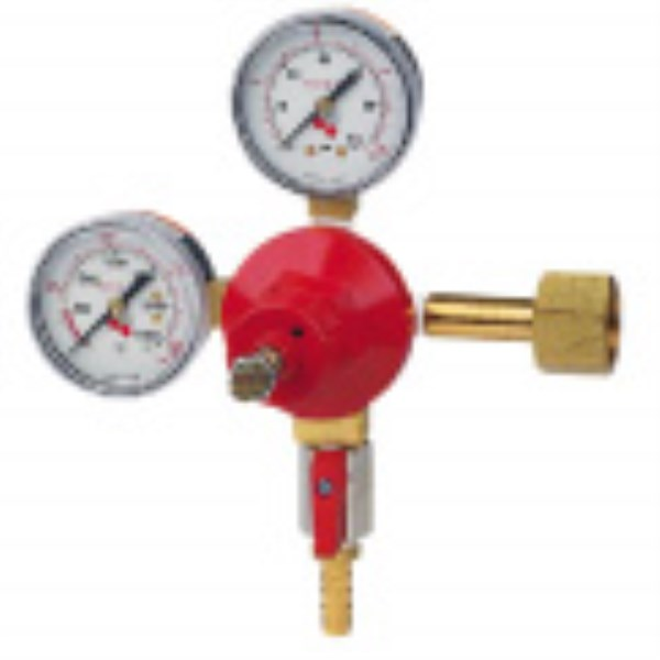 CO2 GAS REGULATOR DUAL GAUGE